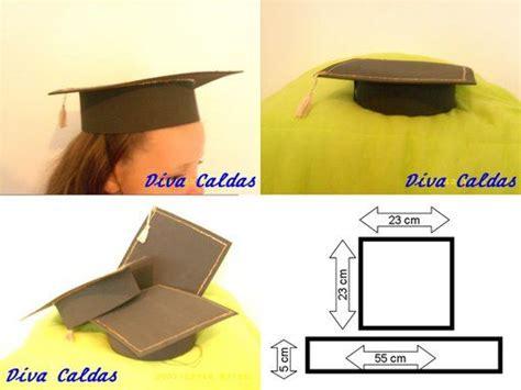 como hacer gorros de graduacion paso a paso con jeannine moldes sombrero de graduado