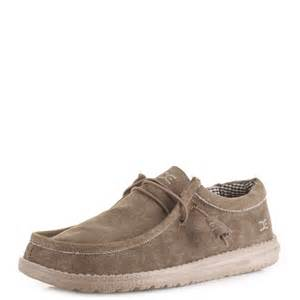 mens dude shoes wally nut wallaby comfort casual canvas lightweight shoe size ebay