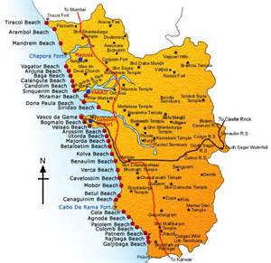 Goa India Map by Aditi Punj And Rishi Sood S Wedding Website