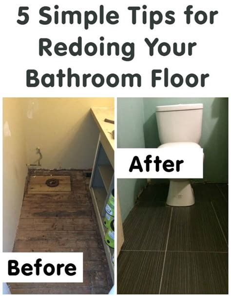 Redoing A Bathroom Floor by 5 Simple Tips For Redoing Your Bathroom Floor Totsreno Thinking Outside The Sandbox Family