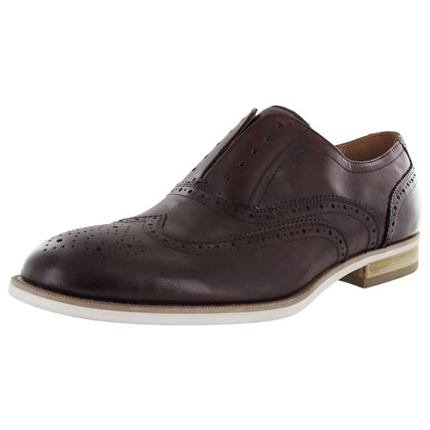 casual oxford shoe steve madden mens romah casual brogue wingtip oxford shoe
