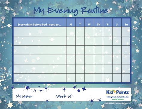 Daily Routine Template by Daily Routine Chart Template Selimtd