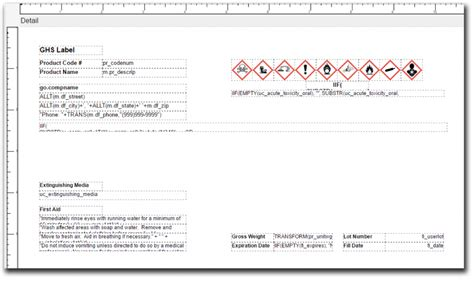 design form labels safety data sheets sds and ghs labeling with deacom erp