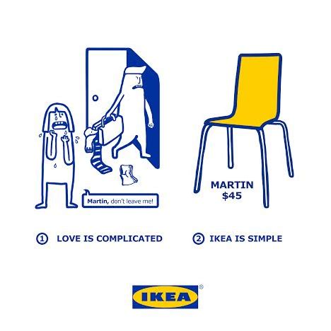 ikea fun love is complicated ikea is simple says furniture