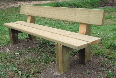 banc en bois banc touzac pi 232 tement et lames en bois naturel