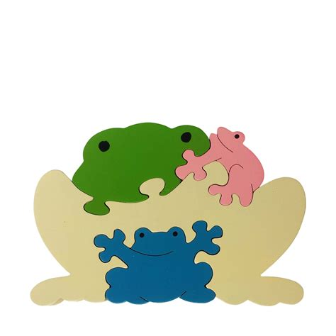Puzzle Animal frog wooden animal puzzle jigzoos australia jigzoos