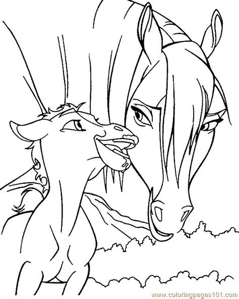 coloring pages of baby horses baby horse playing with mommy animal pages
