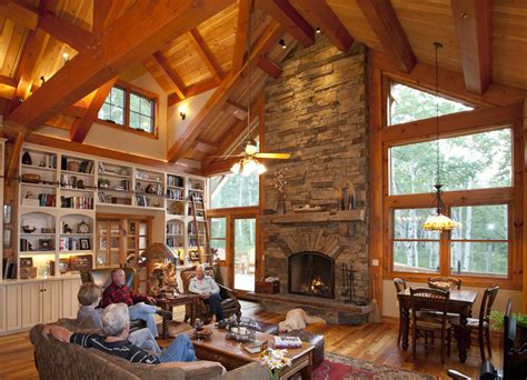designing your timber frame great room ideas