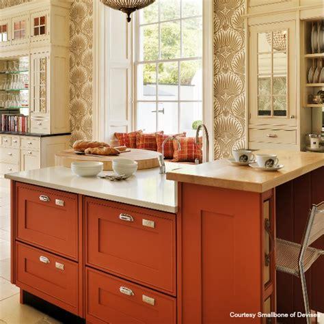 Orange Kitchen Wallpaper by A Simple New York Retreat