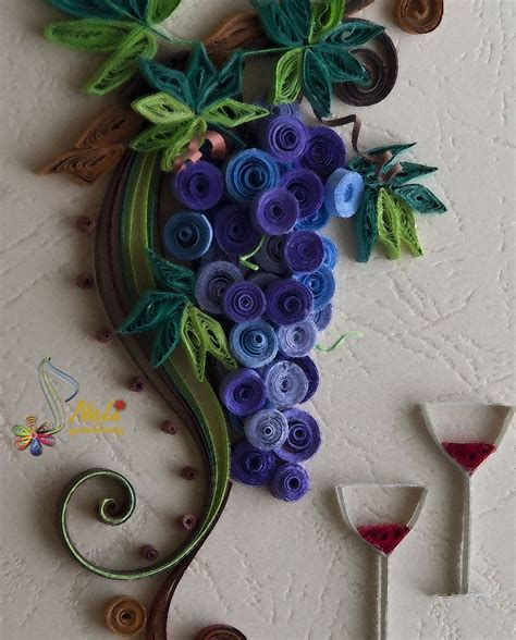 How To Make Paper Grapes - 29 best images about neli quilling grapes on