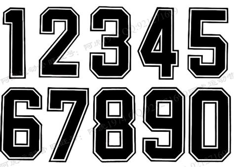 printable sports numbers 7 jersey number font images football jersey number font