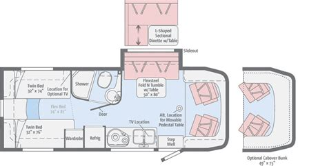 navion rv floor plans navion floorplans winnebago rvs