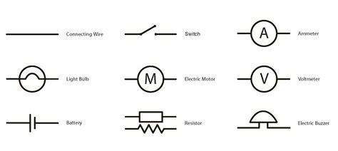 basic electric circuit symbols circuit and schematics