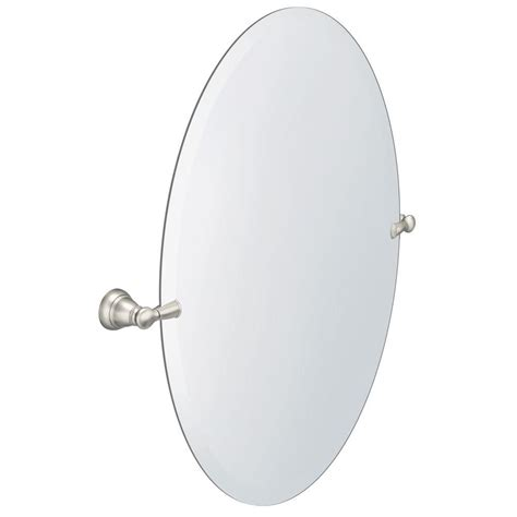 moen bathroom mirrors moen banbury 26 in x 23 in frameless pivoting wall