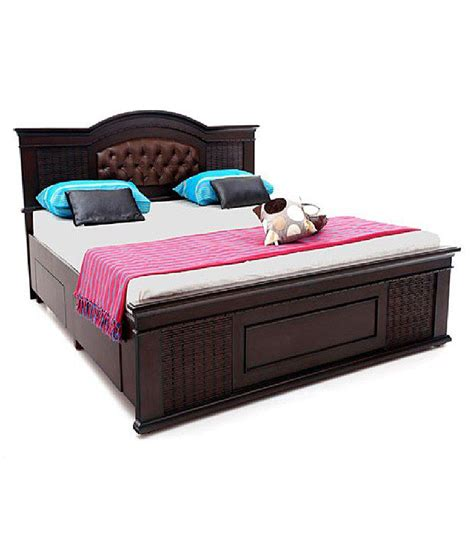 Solid Wood Double Bed With Storage Buy Solid Wood Double Solid Wood Bed With Storage
