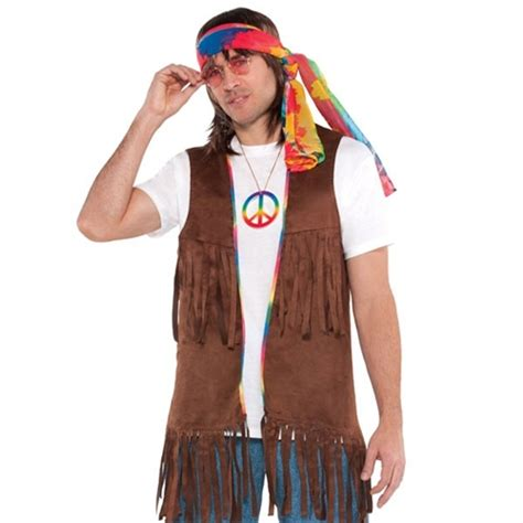 hippie vest men s bartz s party stores