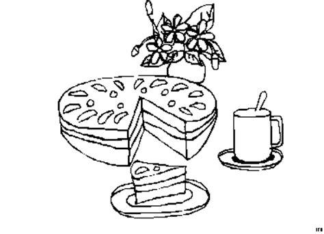 kuchen zeichnung kuchen kuchenstueck ausmalbild malvorlage essen und