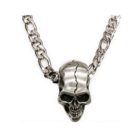 collier et pendentif crane bijoux johnny hallyday