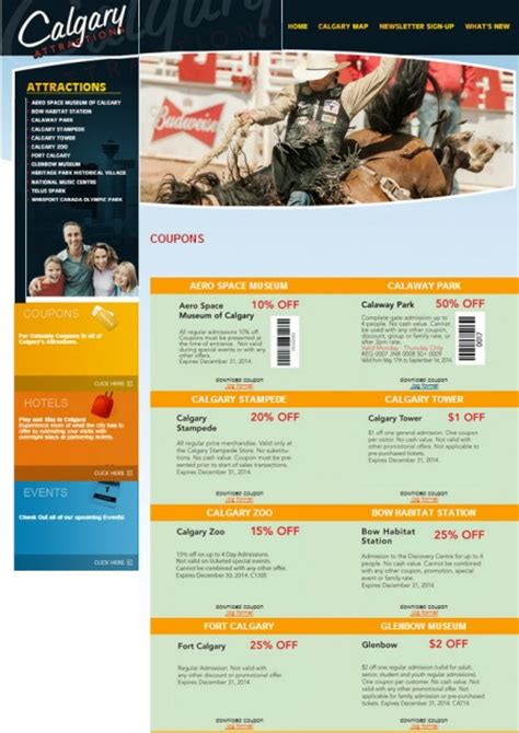 telus new year promotion calgaryattractions save up to 50 coupons to all