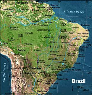 brazil physical map physical map of brazil free printable maps