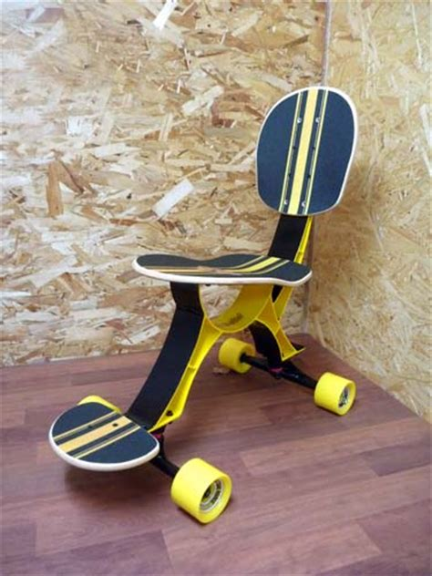 skateboard chairs isukebo skateboard chair lets you skate at work