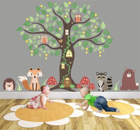 nursery animal wall decals 1000 ideas about enchanted forest nursery on
