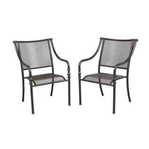 Hampton Bay Patio Chairs by Hampton Bay Andrews Stack Patio Chairs 2 Pack Fcs60437a