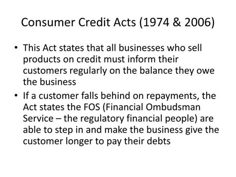 Consumer Credit Act Formula Ppt Limitations And Constraints On Marketing Activities Powerpoint Presentation Id 1430296