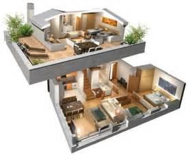 Planos De Casas En 3d Planos En 3d De Casas De 4 Dormitorios Buscar Con Google