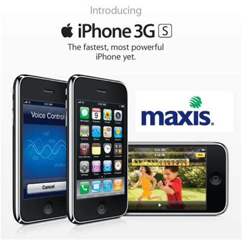 iphone 3gs now available in malaysia via maxis