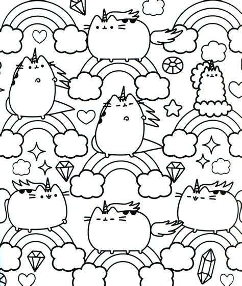 pusheen coloring pages 20 free pusheen coloring pages to print