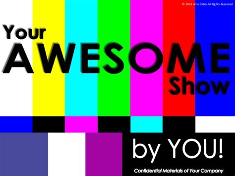 Pitch Deck For Your Awesome Show Tv Show Pitch Deck Template
