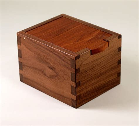 handmade wooden keepsake box of reclaimed teak and by