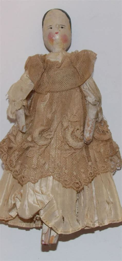 how to jointed doll paint antique c1880 peg wooden doll grodnertal germany orig