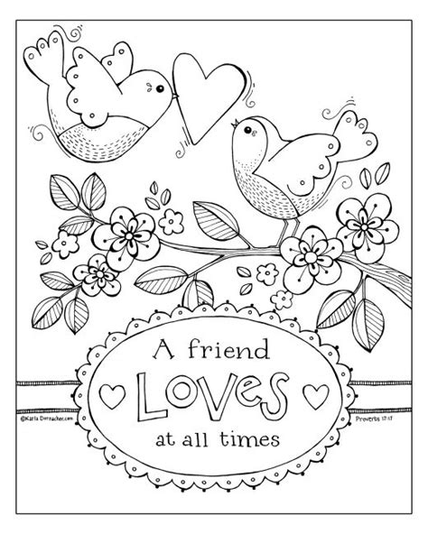 nat love coloring pages a friend loves at all times coloring sheet friendship