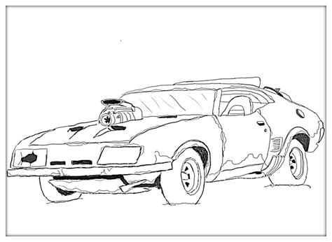 Mad Max Coloring Pages mad max car coloring pages sketch coloring page