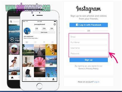 membuat instagram pc cara membuat akun instagram di pc belajar komputer dasar