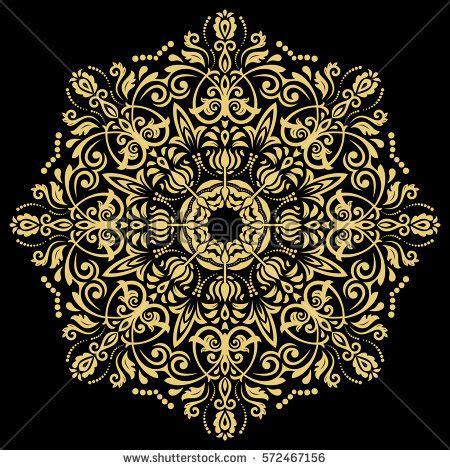 oriental arabesque pattern vector free oriental vector round golden pattern arabesques stock
