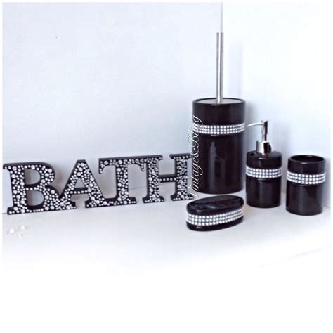 black sparkle bathroom accessories black sparkle bathroom