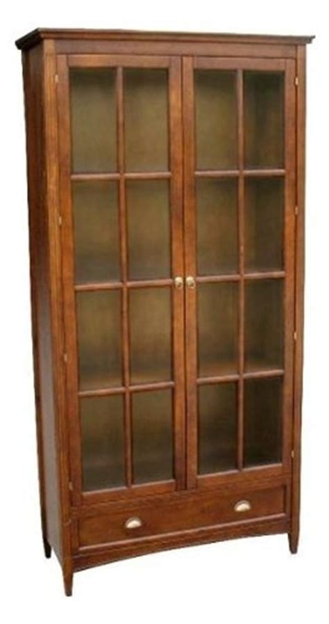 Cheap Bookshelves With Doors Gt Cheap 82cm Traditional Bookcase With Glass Door In