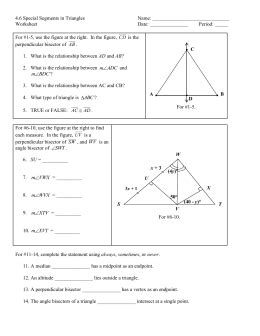 Point Of Concurrency Worksheet by Point Of Concurrency Worksheet