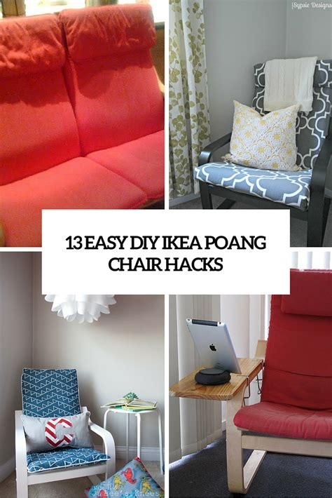 ikea chair hack 13 easy and fast diy ikea poang chair hacks shelterness