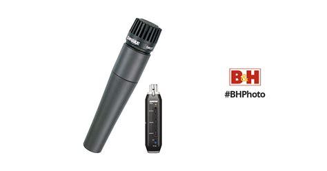 Shure Microphone Sm57x2u shure x2u xlr to usb microphone signal adapter and sm57 sm57 x2u