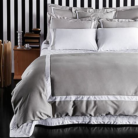 grey and white cover buy frette at home arno duvet cover in grey white