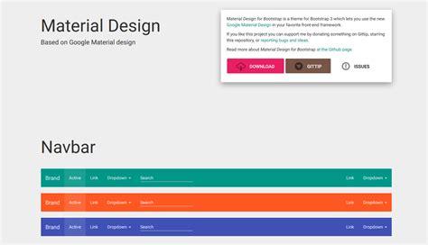 bootstrap material design layout i migliori framework material design braingraph