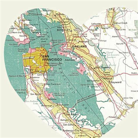 san francisco hearts map luciusart san francisco california city map