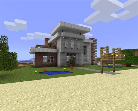 modern beach house design download minecraft project