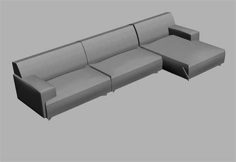 divani 3d dwg divani divano soho di poliform day systems