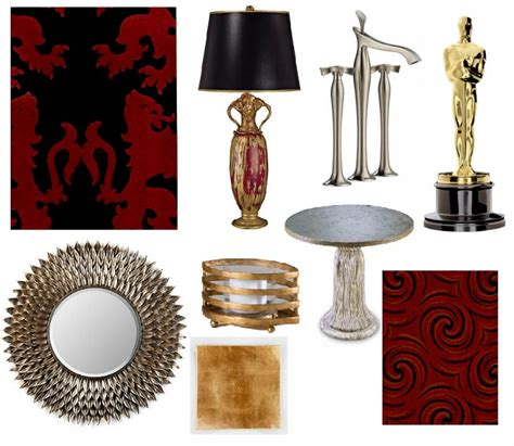 gold home decor accessories home decor inspired by the oscars places in the home