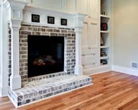 white washed brick fireplace design pictures remodel